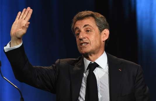 Nicolas Sarkozy à Nîmes, le 20 janvier 2016.
