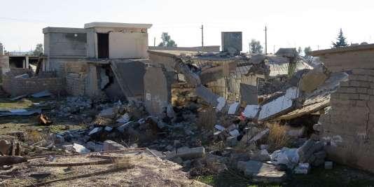 Image fournie par Amnesty International des destructions dans le village de Barzanke, dans la province de Diyala.