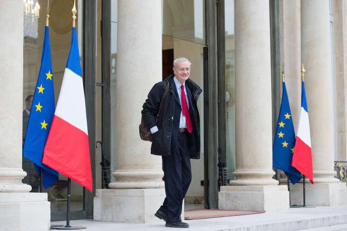 Le président de l'Observatoire National de la Laïcité Jean-Louis Bianco à l'Elysée en avril 2013.