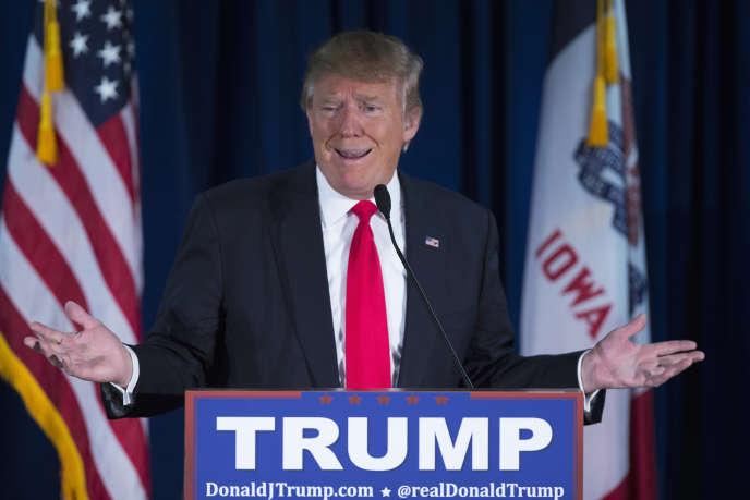 Le candidat à l'investiture républicaine, Donald Trump, lors d'un meeting de campagne à Norwalk dans l'Iowa, le 20 janvier 2016.