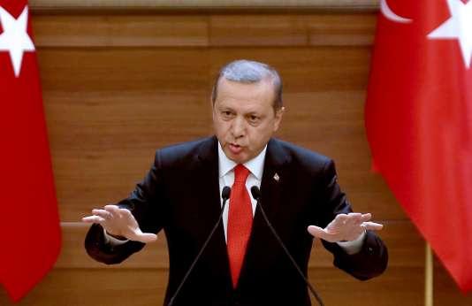 Le président turc, Recep Tayyip Erdogan, lors d'un discours à Ankara le 20 janvier.