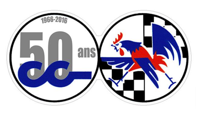 CG peut se prévaloir d'un logo dessiné par Uderzo, un coq aux couleurs françaises.