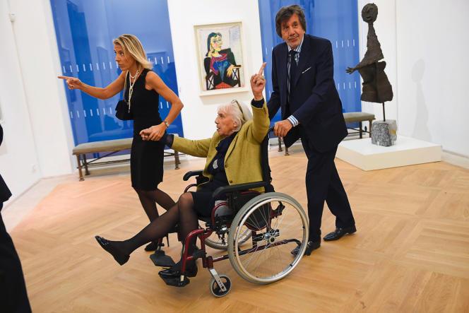 Maya Widmaier Picasso, lors de la réouverture du Musée Picasso, à Paris, le 25 octobre 2014.