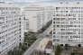 Le grand ensemble La Caravelle, à Villeneuve-la-Garenne (Hauts-de-Seine), réalisé par l'architecte Jean Dubuisson (1959-1967) et réhabilité par Roland Castro en1995.