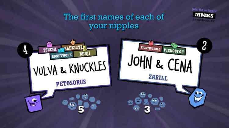Gagner les votes des autres joueurs en trouvant la réponse la plus amusante.