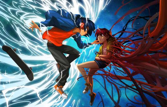 """Esthétique manga, jeu en rythme et scénario ancré dans le thème de la maladie : l'étrange mélange de """"Lost in Harmony""""."""