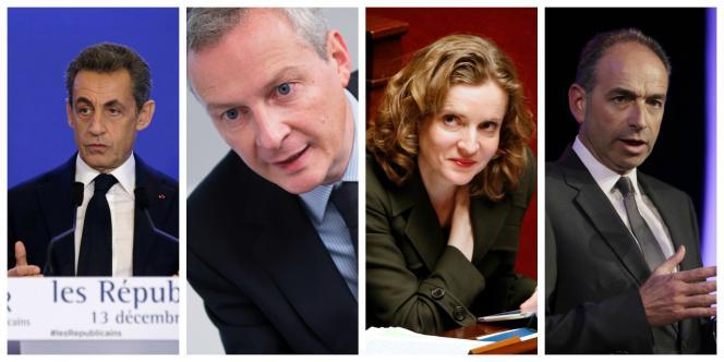 Les candidats qui vont ou pourraient se déclarer : Nicolas Sarkozy, Bruno Le Maire, Nathalie Kosciusko-Morizet, Jean-François Copé.