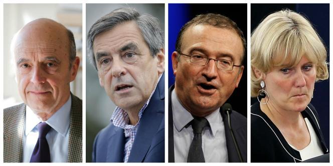 Les autres candidats déclarés à la primaire à droite :  les anciens premiers ministres Alain Juppé et François Fillon, le député de la Drôme, Hervé Mariton, et l'ancienne ministre Nadine Morano.