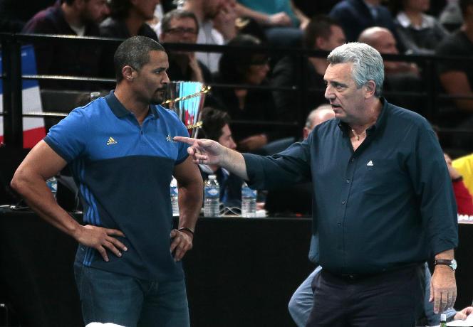 Didier Dinart et Claude Onesta, en janvier, à Paris.