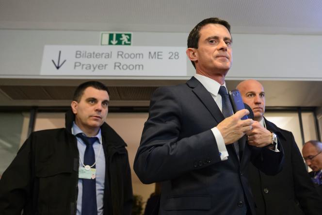 Manuel Valls, à Davos, le 21 janvier.