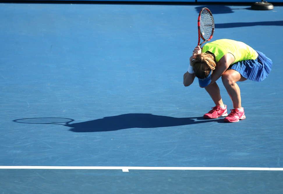 La Française Alizé Cornet, 33e joueuse mondiale,  s'est inclinée face à la Chinoise Zhang Shuai (132e) en deux sets, 6-3, 6-3. La Chinoise avait déjà  surpris en sortant Simona Halep, n° 2 mondiale, au tour précédent.