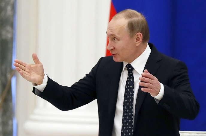 Le président russe, Vladimir Poutine, le 21 janvier 2016.