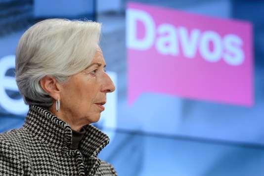 La directrice générale du FMI, Christine Lagarde, lors du Forum économique mondial à Davos, le 21 janvier.