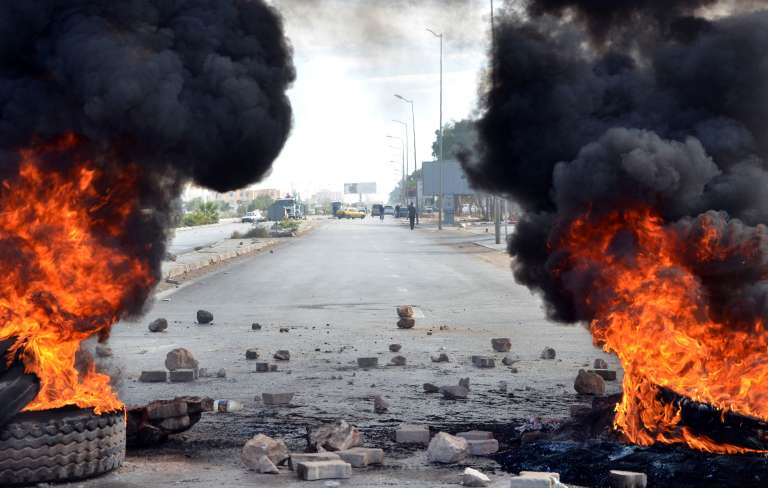 Lors des manifestations du 21 janvier à Kasserine.