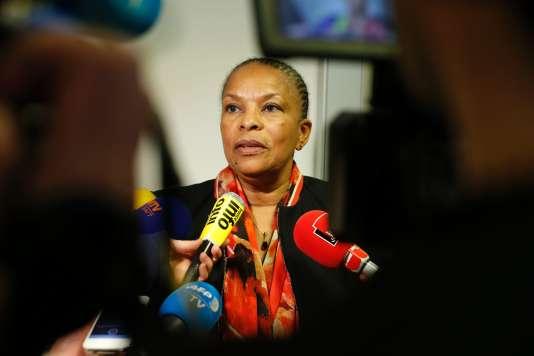 La ministre de la justice, Christiane Taubira, le 21 janvier 2016, à Paris.