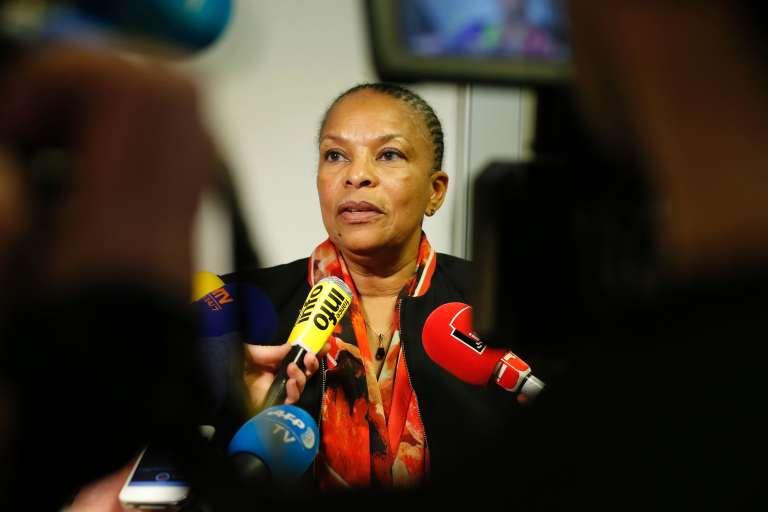 L'ex-ministre de la justice Christiane Taubira, le 21 janvier, à Paris.