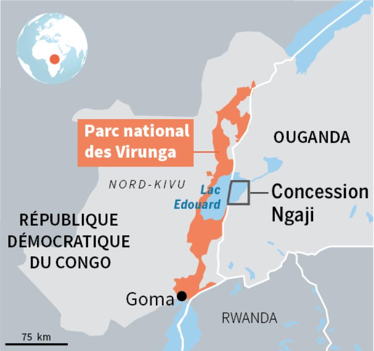 Le lac Edouard, appartient au parc naturel des Virunga dans sa partie congolaise. Son sous-sol suscite la convoitise des compagnies pétrolières.