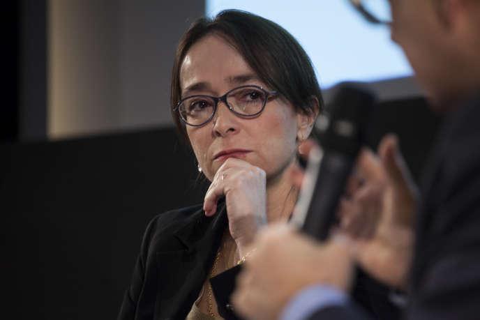 A la tête de France Télévisions depuis six mois, Delphine Ernotte-Cunci était l'invitée, mercredi 20 janvier, du Club de l'économie « Le Monde ».