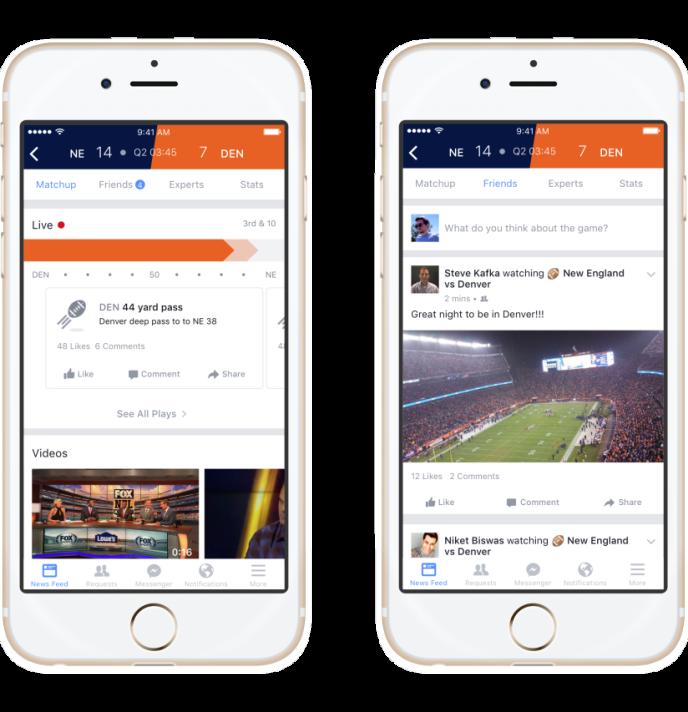 Facebook Lance « Sports Stadium », une fonctionnalité pour suivre les rencontres sportives en direct sur le réseau social.