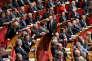 Les bancs de la droite à l'Assemblée Nationale le 12 janvier 2016.