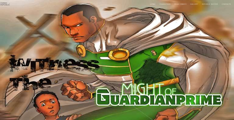 Guardian Prime, l'un des super-héros créés par la start-up nigériane Comic Republic.