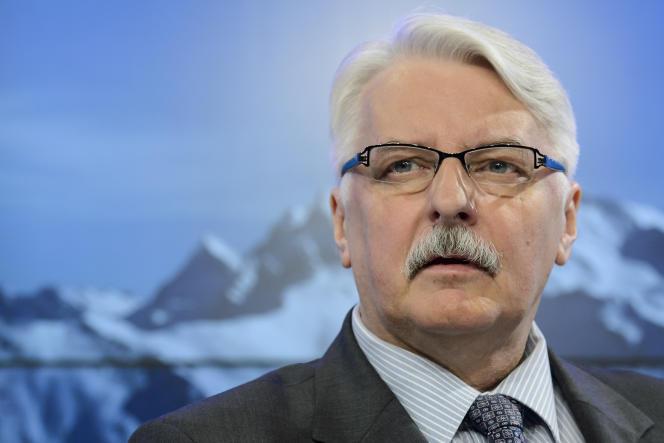 Le ministre des affaires étrangères polonais Witold Waszczykowski à Davos, 22 janvier 2016. (Jean-Christophe Bott/Keystone via AP)