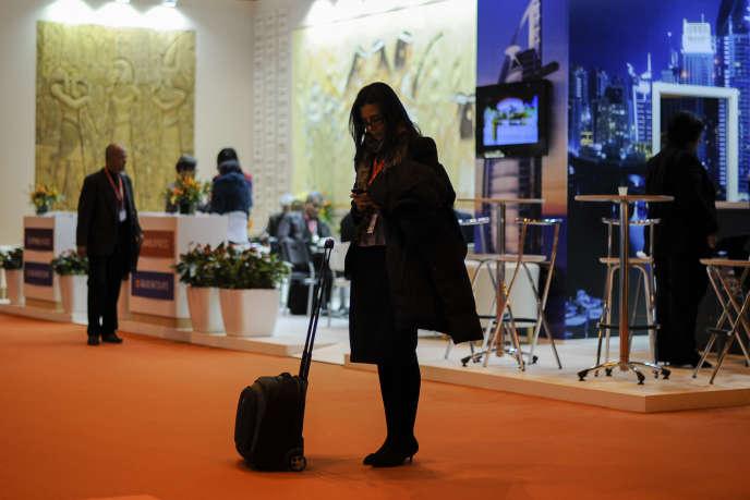 A la Foire internationale du tourisme de Madrid (Fitur), en janvier 2013.