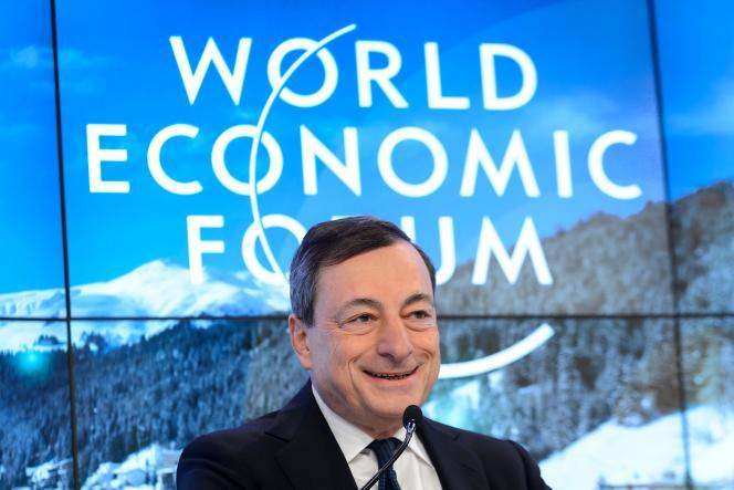 Mario Draghi au Sommet de Davos (Suisse), le 22 janvier.