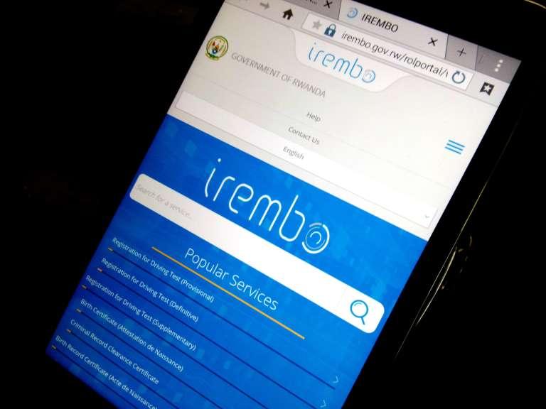 La plate-forme Irembo, au Rwanda.