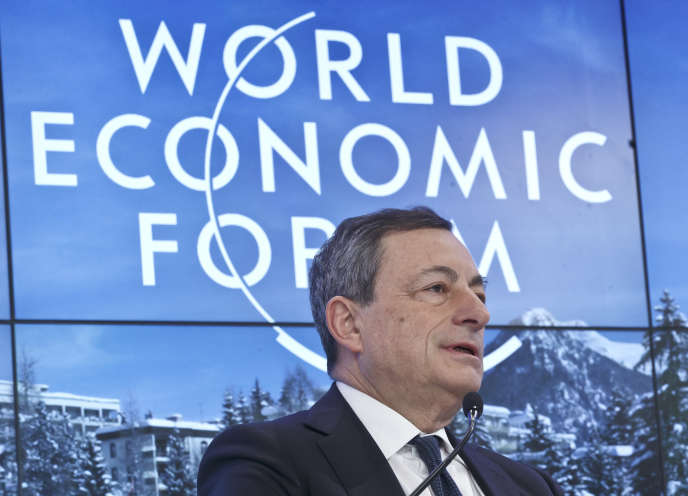 Mario Draghi, président de la BCE, à Davos le 22 janvier.
