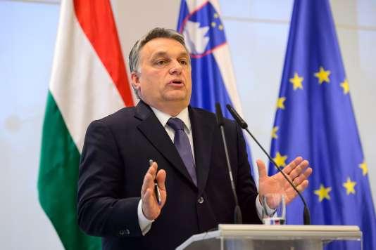 Le premier ministre hongrois, Viktor Orban, le 22 janvier à Brdo en Slovénie.