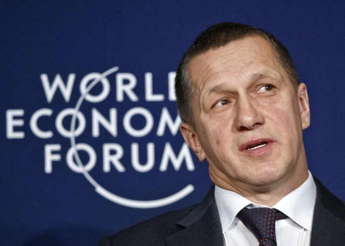 Youri Troutnev, le vice-premier ministre «chargé du développement de l'Extrême-Orient russe», au Forum économique mondial à Davos, en Suisse, vendredi 22 janvier.