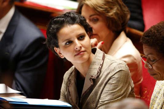 Najat Vallaud-Belkacem à l'assemblée nationale, le 9 juin 2015.