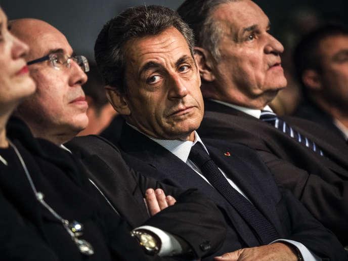 Nicolas Sarkozy lors de la cérémonie des vœux de la fédération du parti Les Républicains du Gard, à Nîmes le 20 janvier.
