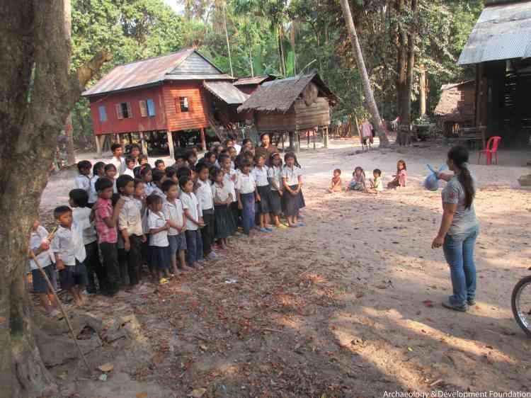 Au Kulen, les classes soutenues par le programme d'éducation Archelogia & Developpement Foundation (ADF).