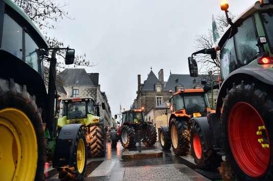 Des éleveurs bretons manifestaient déjà le 22 janvier contre les prix trop bas qui impactent leur filière, à Rennes.