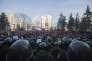 Des policiers devant le Parlement moldave à Chisinau, la capitale du pays, le 21 janvier 2016.