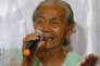 """Narcisa Claveria, Philippine de 85 ans, forcée par le Japon pendant la seconde guerre mondiale à être """"femme de réconfort"""", demande réparation, près de Manille, le 22 janvier 2016."""