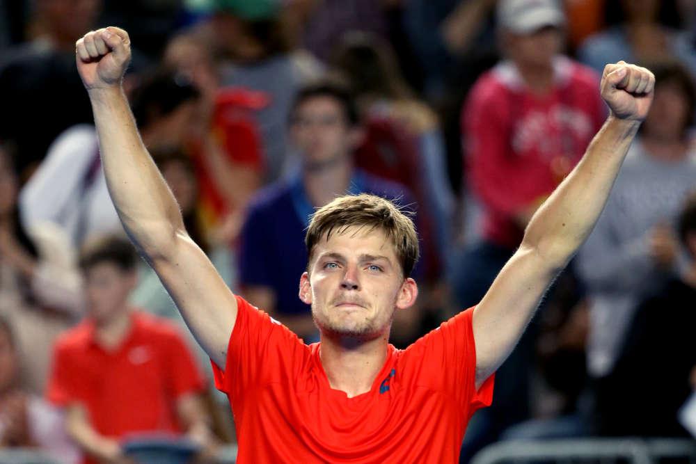 Le Belge David Goffin, tête de série numéro15, a battu l'Autrichien Dominic Thiem en quatre sets (6-1, 3-6, 7-6 (7/2), 7-5), s'offrant une place en huitièmes de finale.