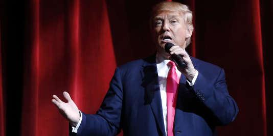 D'après les enquêtes d'opinion, Donald Trump –ici le 21 janvier à Las Vegas– serait en position de l'emporter non seulement dans le caucus de l'Iowa, qui aura lieu le1erfévrier, mais aussi dans la primaire du New Hampshire, le 9 février.