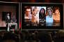John Krasinski et la présidente de l'Académie, Cheryl Boone Isaacs, annoncent les nominations pour la 88e édition des Oscars, le 14 janvier 2016.