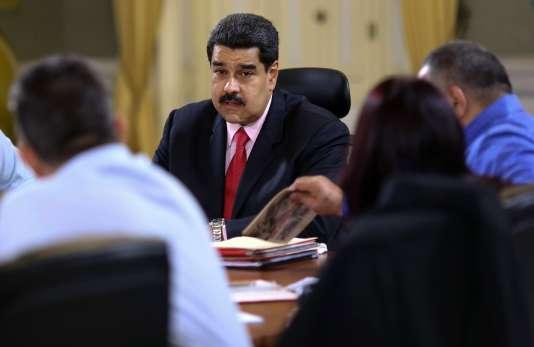 Le président Nicolas Maduro, le 22 janvier.