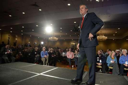 Jeb Bush, candidat républicain à la présidentielle américaine, à Nashua (New Hampshire), le 23 janvier.