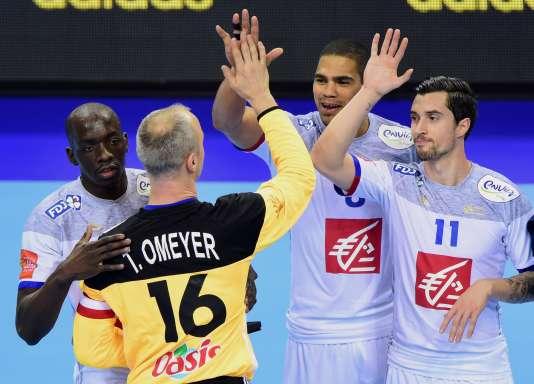 L'équipe de France de handball, en janvier.