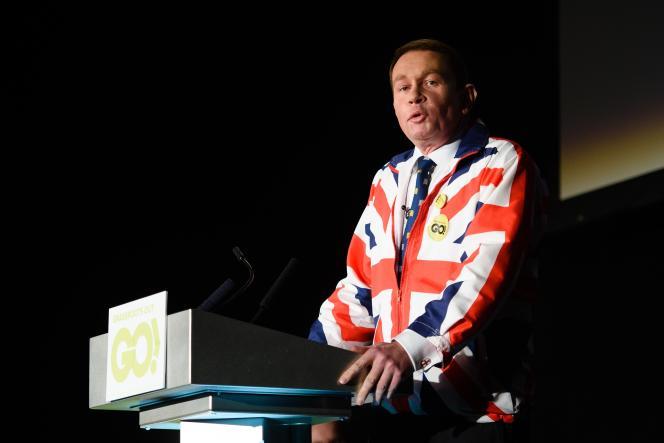 Philip Hollobone, parlementaire conservateur favorable à la sortie de la Grande-Bretagne de l'Union européenne.