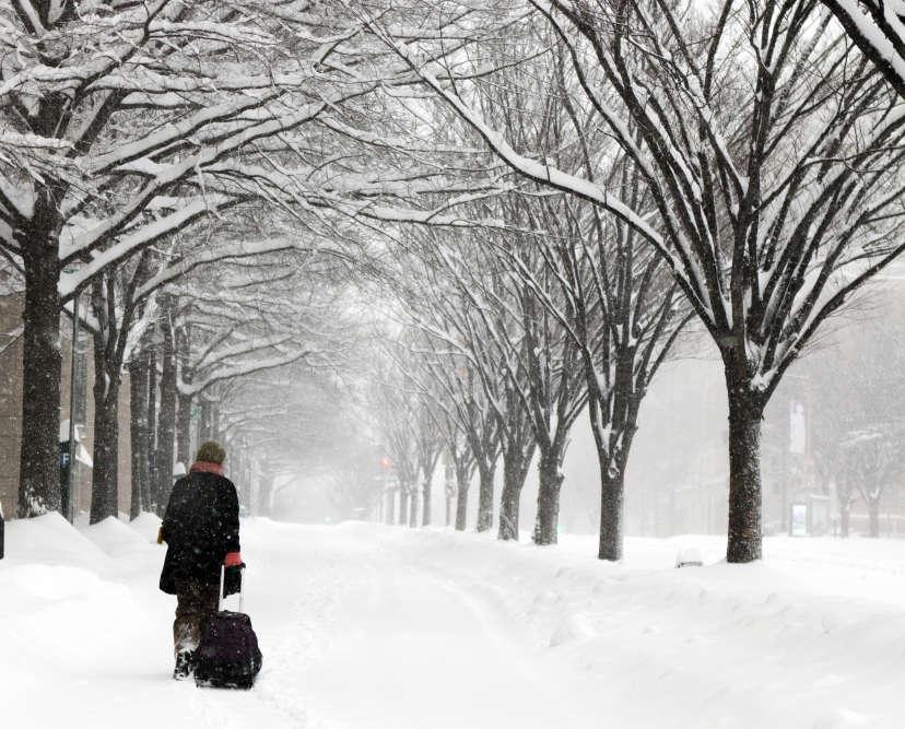 Plusieurs villes de la Côte est des Etats-Unis, comme ici Washington, sont actuellement survolées par la tempête Jonas, qui y a déversé un épais manteau de neige, privant d'électricité des dizaines de milliers d'habitants.