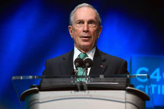 L'ancien maire de New York, Michael Bloomberg, le 3 décembre 2015 à Paris.