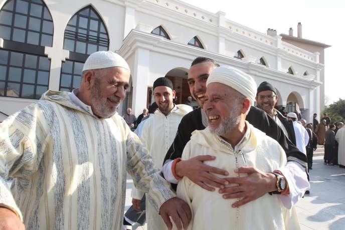 A l'ouverture de la mosquée de Fréjus (Var), le 22 janvier.