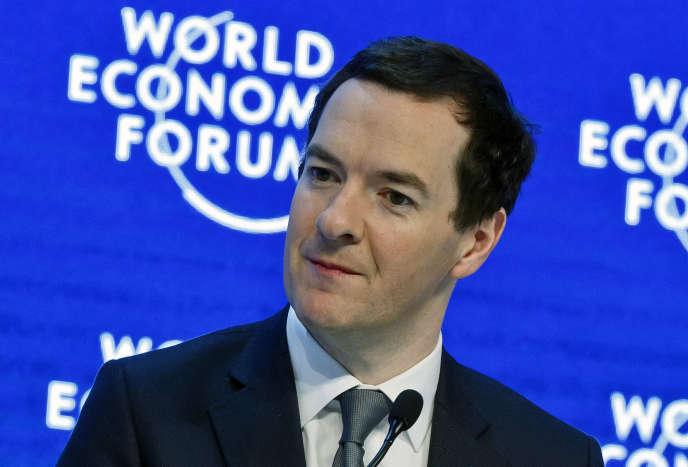 Le chancelier de l'Echiquier britannique, George Osborne, à Davos le 23 janvier 2016.