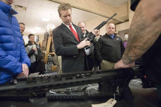 Rand Paul, en campagne à Concord (New Hampshire), le 23 janvier.